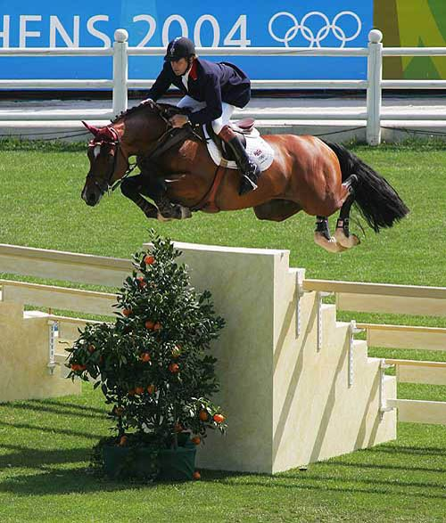 Just...wow...Nick Skelton and his Arko III, just jumping the standard--why not?