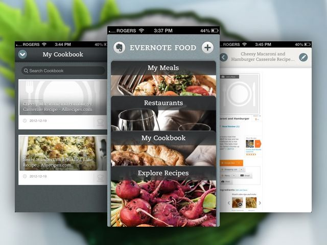12 best webapp inspiration food images on pinterest design evernotes food app hits version 20 worth checking out forumfinder Images