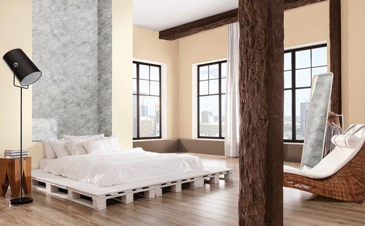 Sypialnia z dodatkiem chłodnych szarości