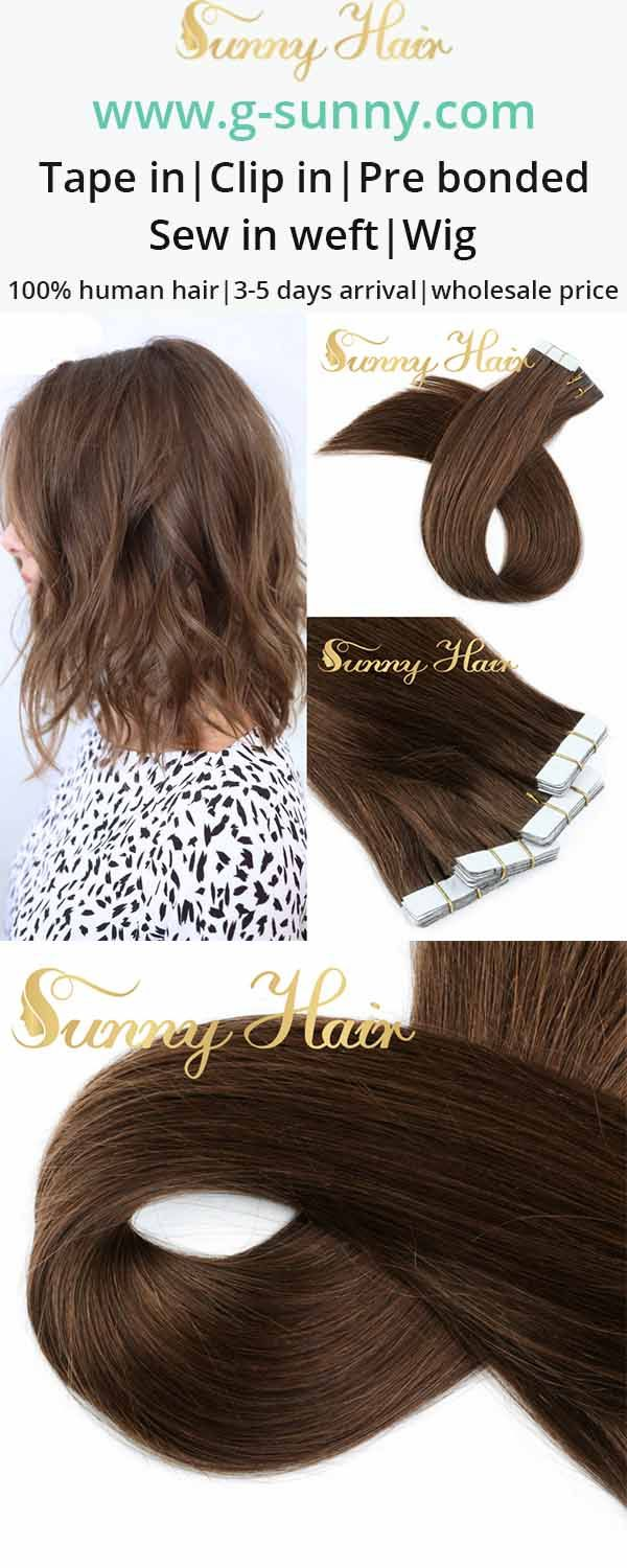 sunny hair brown human hair extensions. 100% remy human hair extensions. g-sunny.com