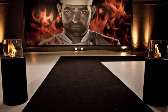 Hell's #Kitchen on #fire in Denmark Planika #fireplaces starring in a Danish version of Hell's Kitchen broadcasted by local TV2. Planika is there to make sure the Hell's still on fire. Photos: total2office ApS