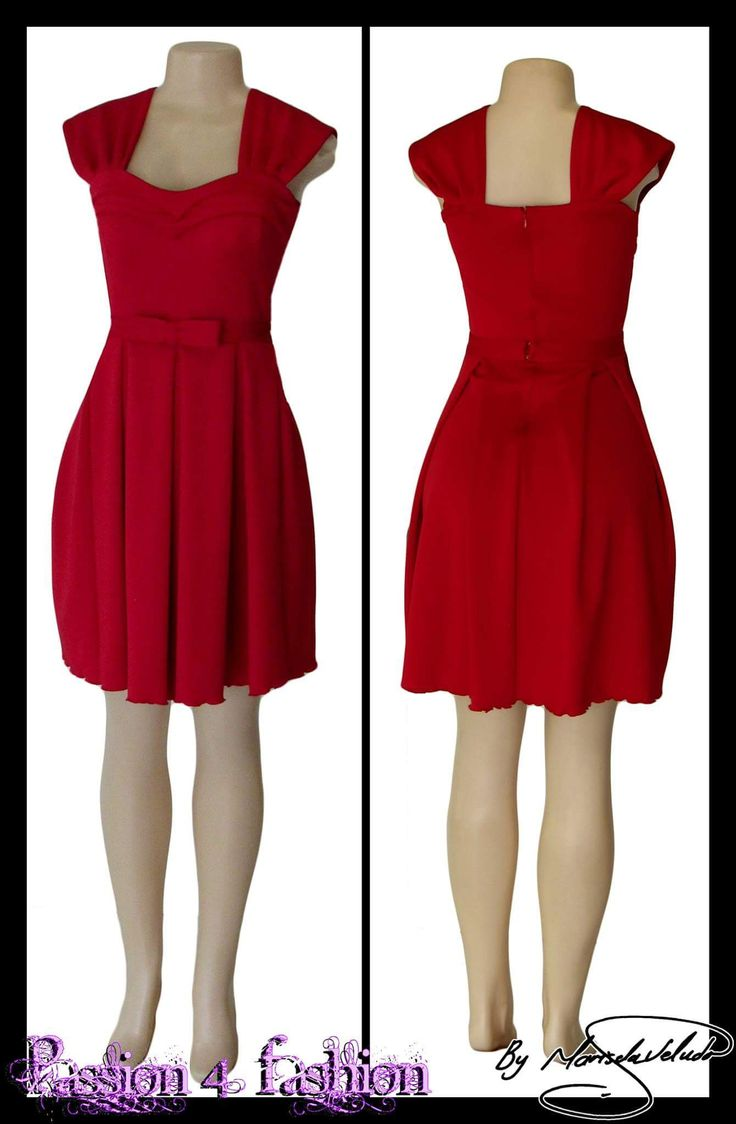 Short red pleated smart casual dress with a pleated sweetheart neckline and a detachable belt with bow detail.  Marisela Veludo https://goo.gl/qqQoCi #mariselaveludo #passion4fashion #smartcasualdress #reddress #summer #summerdress #shortdress #fashion