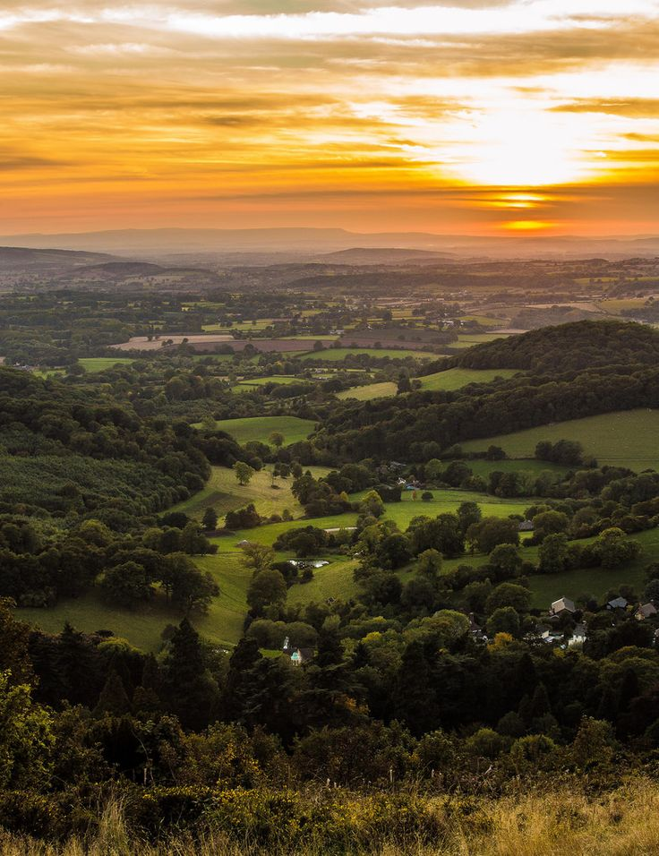 Sunset over Malvern Hills - Worcestershire, England by MarkNewmanPhotography
