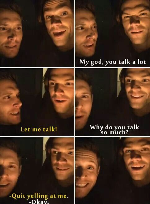 Jensen Ackles and Jared Padalecki LOL ^_^ <3 <3 #Jensen #Jared #facebook