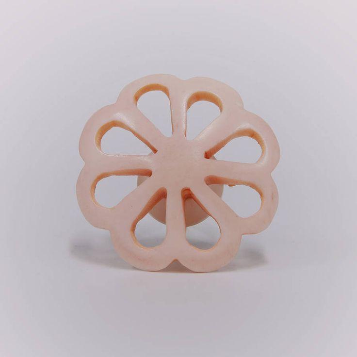 Acrylic Pink Flower Knob
