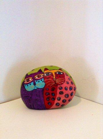 Lunatique chat peint Rock