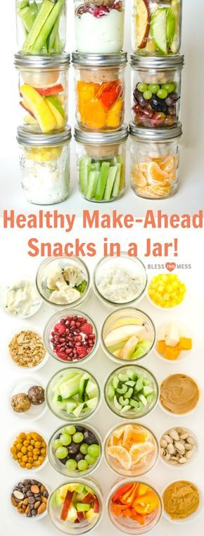 These healthy snacks in jars have been a healthy eating game changer in my kitch...
