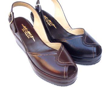 "Veranda leather Re-Mix+Vintage+Shoes also red, eggplant, sand, 1"" platform, 2.5"" wedge. $125"