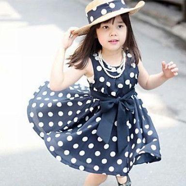 Polkadot Blue And White Girls Bowknot Princess Dress. Only at www.pandadeals.co.uk