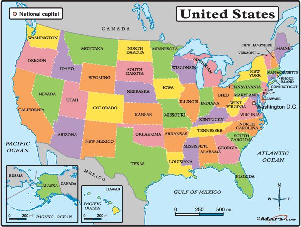 would like to travel to each state