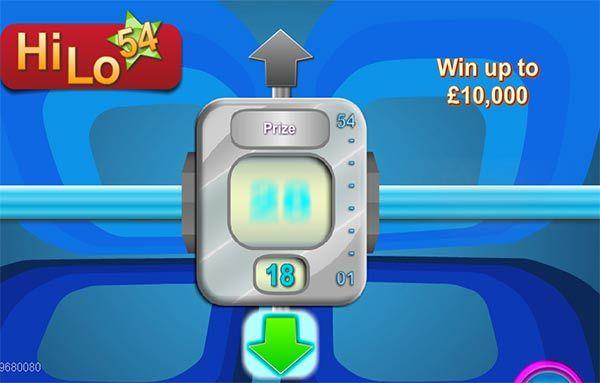 Instant game HiLo54   Mrmega.com