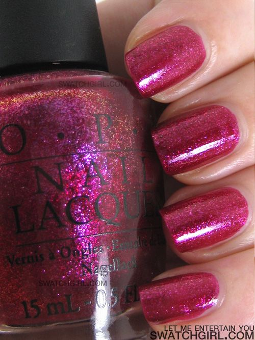 OPI - Let Me Entertain You. I am in love with this color and I am wearing it now ;)
