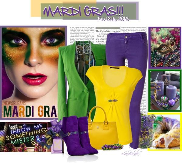 """Mardi Gras!!!!"" by lashandanista on Polyvore"