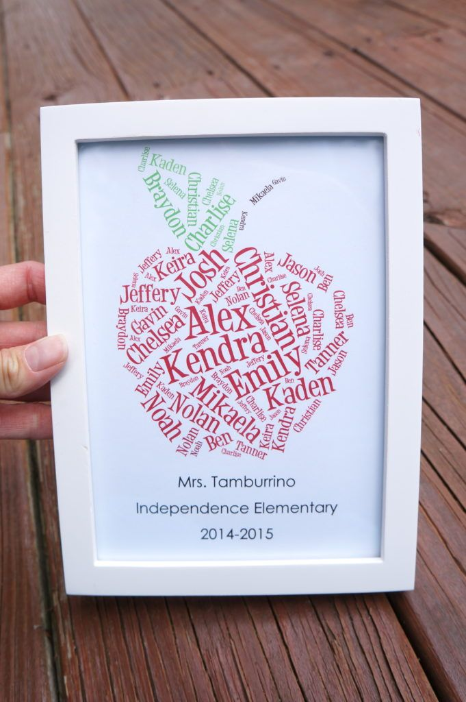 What an adorable gift for your child's teacher! All the names of his/her students.