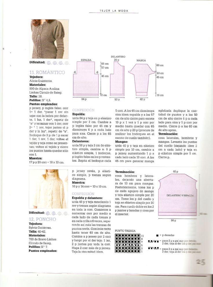 76 besten Revista Tejer la Moda Bilder auf Pinterest | Moda, Weben ...