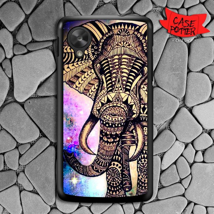 Aztec Elephant Galaxy Nebula Nexus 5 Black Case