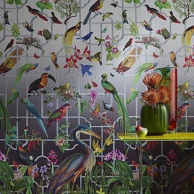 Обои Sahco - словно райский сад #обои #wallcoverings #wallpaper #идеал_интерьер #idealinterier #sale #скидки
