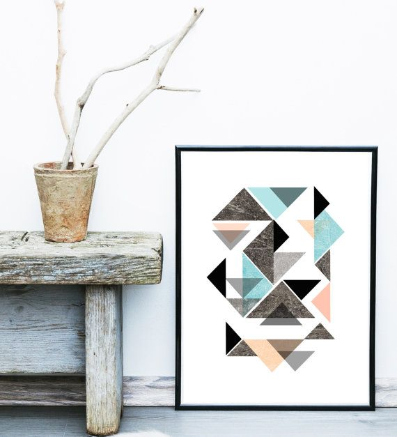 Price now $8.50 Affiche Scandinave Scandinavian Poster Geometric by exileprints