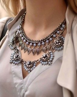 blue color mat finishing Necklace