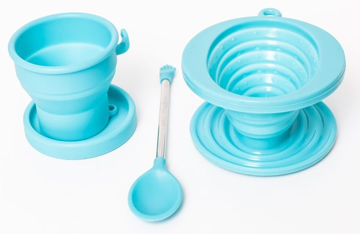 Brooklyn Ice Company - Collapsible Coffee Silicone Set - 5 Ounce Cup ** Learn more by visiting the image link.