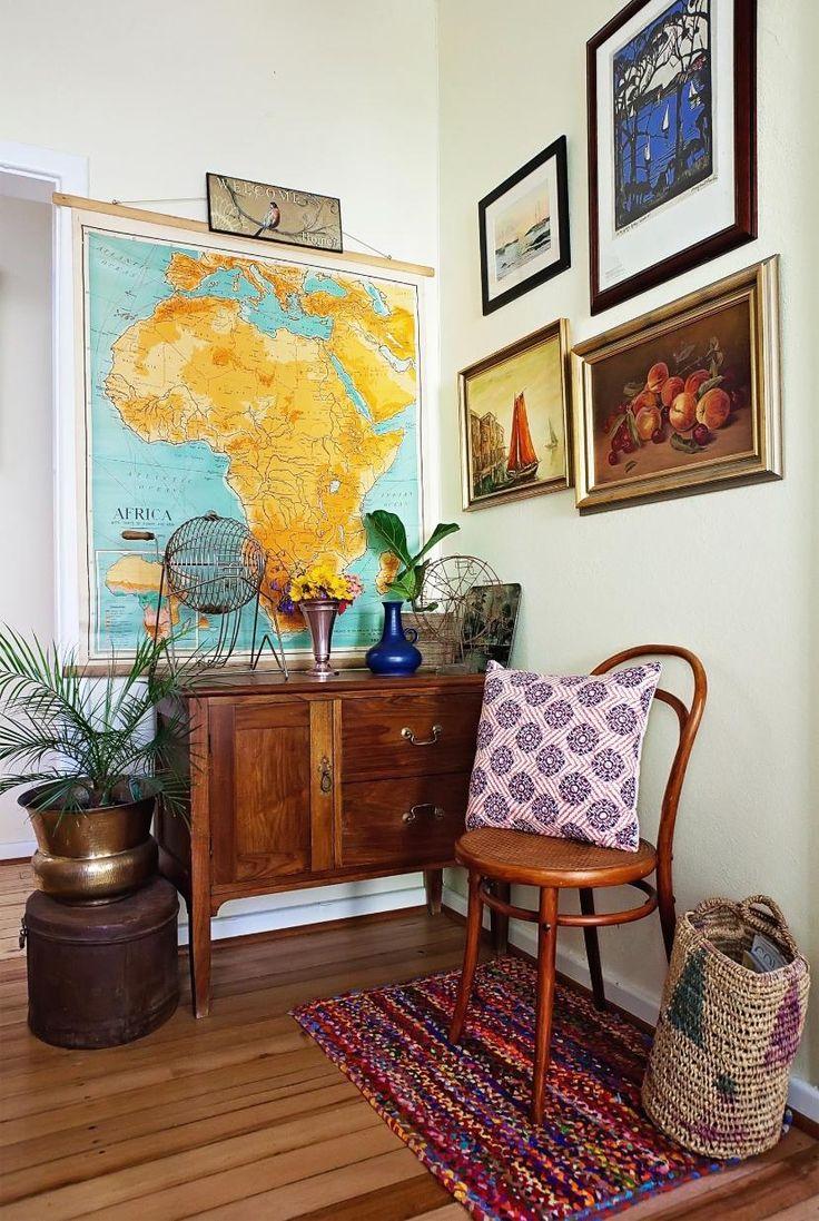 Boho-Fans sind immer auf dem Sprung ins nächste Abenteuer. (Bild gefunden auf: www.apartmenttherapy.com)