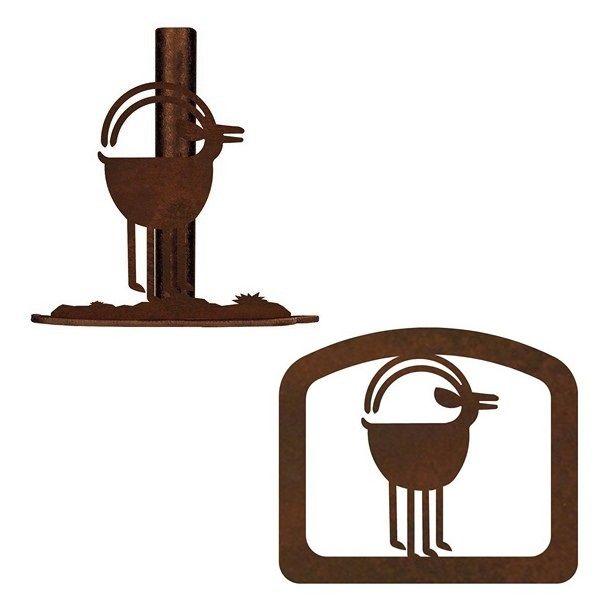 Ram Goat Rustic Southwestern Paper Towel Stand or Napkin Holder (PT9160-1636) ...