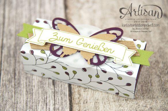 Stampin´ Up! - Artisan Design Team - Designerpapier Wildblumenwiese - Framelits Schmetterling - eleganter Schmetterling - Ein kleiner Gruß - 1