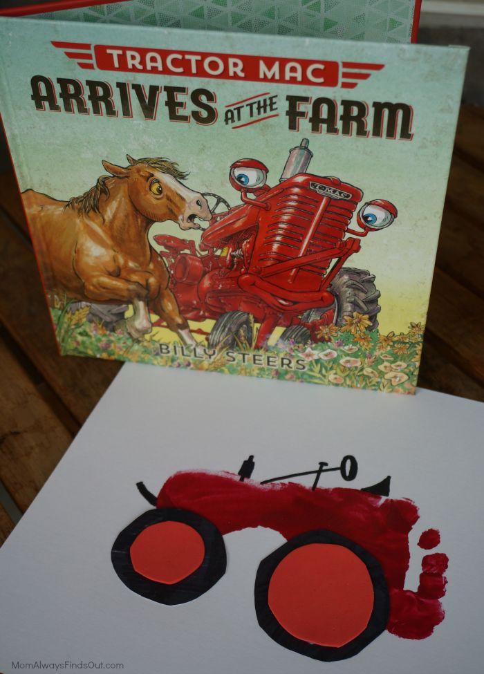 Tractor Mac Books and Tractor Footprint Craft Easy Crafts for Kids | Preschool | Children's Art #sponsored