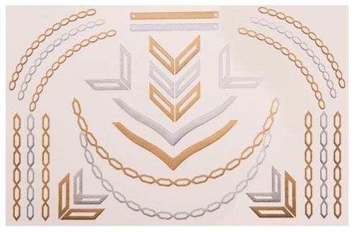 Temporäres Lena Tattoo in Gold&Silber kaufen: Im Angebot nur 5,90 € ▷ Jetzt Lena Tattoo bei POSH Tattoo bestellen!