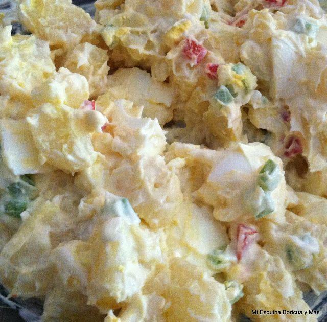 Ensalada de papas y huevos