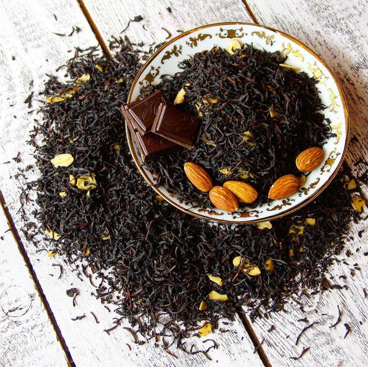 """Чудесный черный чай """"Ирландский виски"""" с лепесками жаренного миндаля, скрасит любой воскресный вечер ❤"""