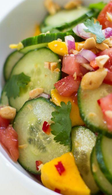 East African Mango & Cucumber Salad