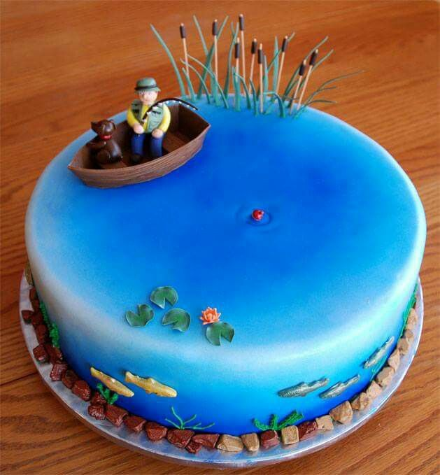 Grooms Cake In 2019 Fish Cake Birthday Fathers Day Cake