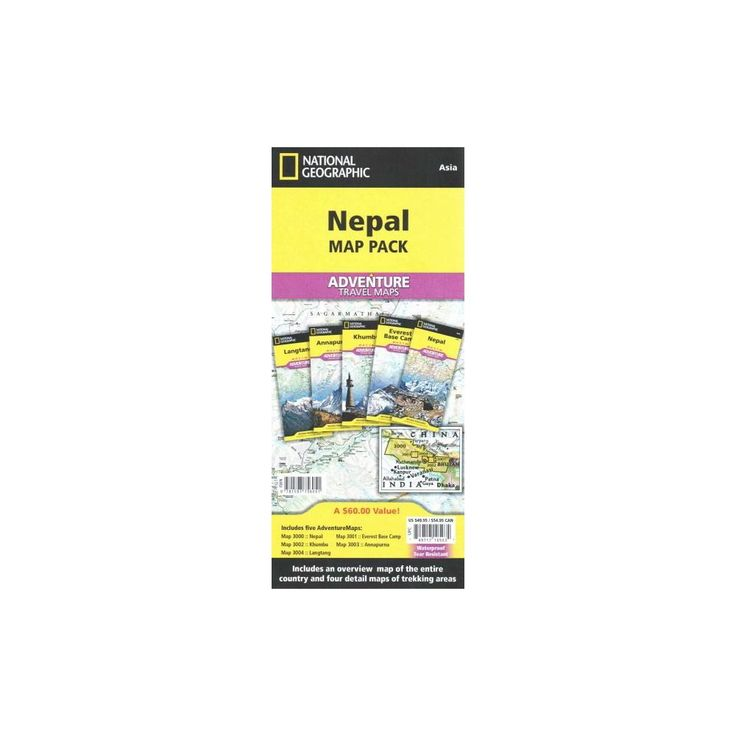 National Geographic Adventure Travel Map ( National Geographic Adventure Map) (Sheet Map)