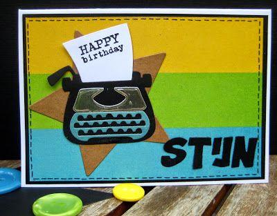 Scrapspul van Colien: Happy birthday Stijn.