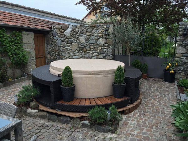 small patio ideas softub with seating portable hot tub ideas