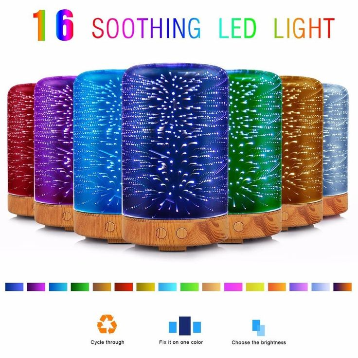 Cosmic Essential Oil Diffuser 3D Color Changing Light Aromatherapy Ultrasonic Cool Mist Humidifier
