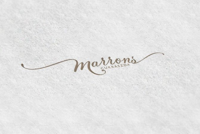 marrons//logo for a confectionery