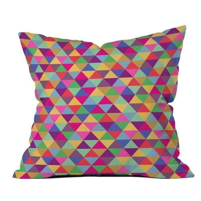 bianca green in love with triangles pillow