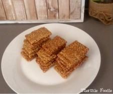 Recipe Simple Sesame Snaps (nut free, grain free, gluten free, refined sugar free, egg free, dairy free) by Thermie Foodie - Recipe of category Baking - sweet