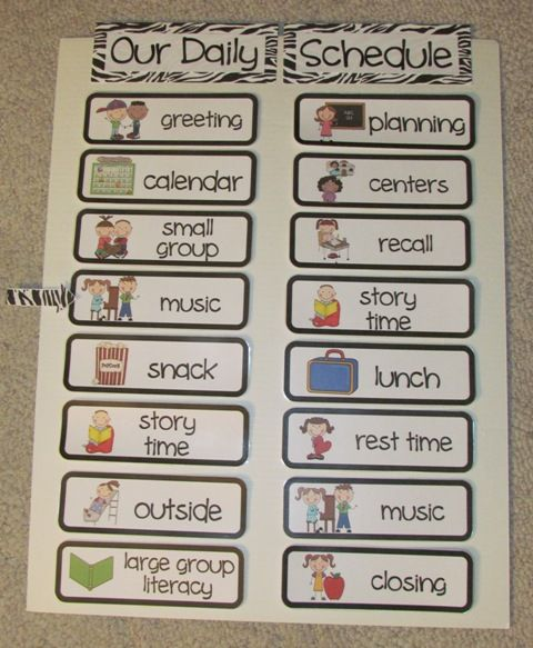 Best 25+ Daily schedule preschool ideas on Pinterest   Daily ...