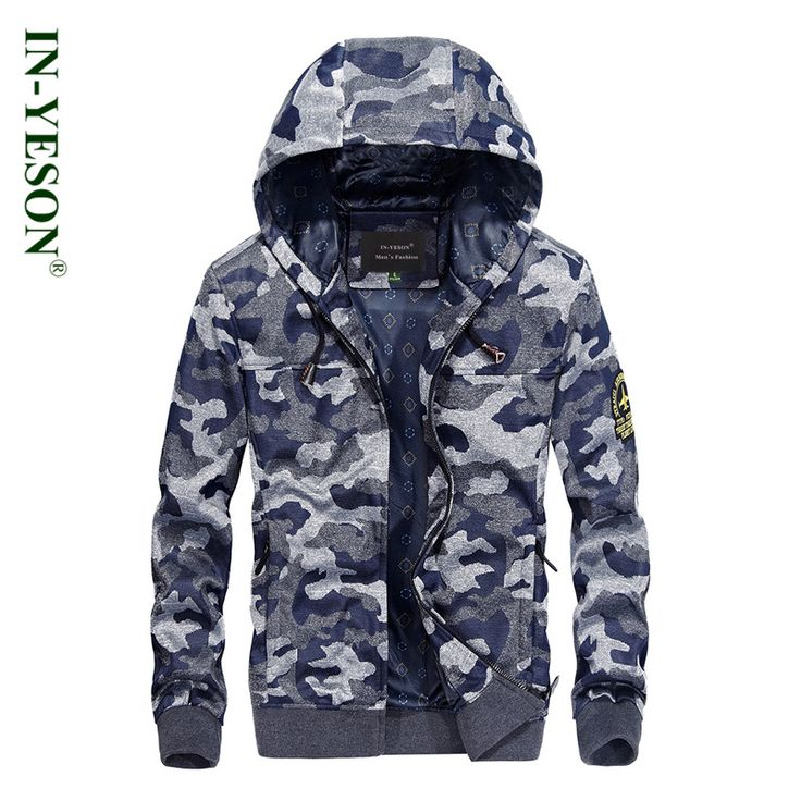 2017 New Military Tactical Camouflage Hooded Jacket Men Brand IN-YESON Casual Cotton Camo Men's Jacket Sweatshirt #Affiliate