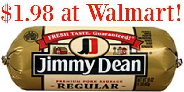 Walmart: Jimmy Dean Sausage Only $1.98!