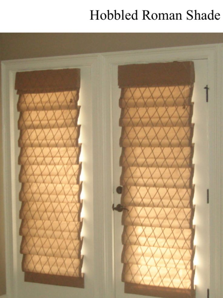 Hobbled Roman Shade With Valance Window Treatments