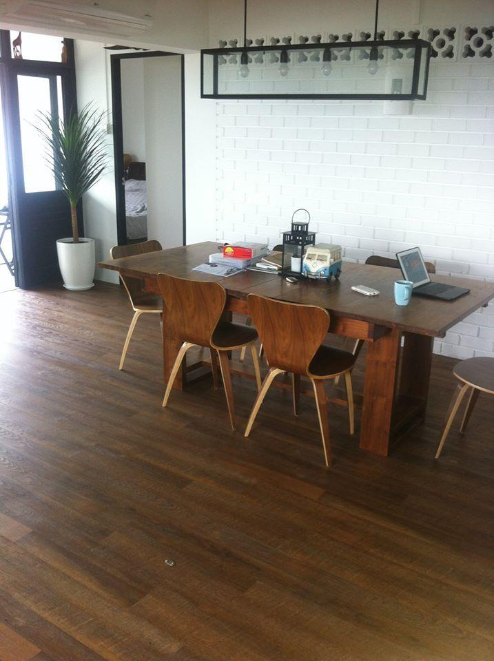 High End Resilient Flooring HERF - Natural Hickory Design. Put