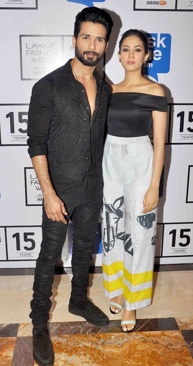 Shahid Kapoor and Mira Rajput at Lakme Fashion Week Winter/Festive 2015.