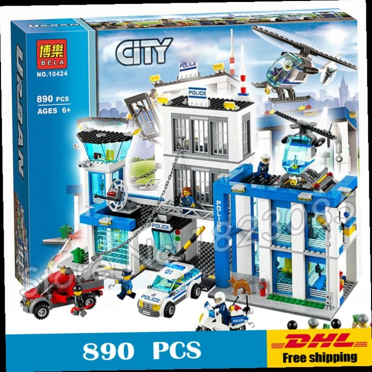49.99$  Watch now - http://alimpq.worldwells.pw/go.php?t=32723068125 - 890pcs 2016 BELA 10424 City Police Station building blocks Action Figures Model Toys helicopter jail cell Compatible with Lego 49.99$