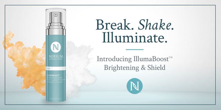 The secret is out: Nerium is excited to reveal our latest breakthrough product: IllumaBoost™ Brightening & Shield — a customized way to achieve an extra boost of radiance and urban shielding. Illumaboost features a breakthrough delivery system that dispenses a fresh and potent dose of proprietar