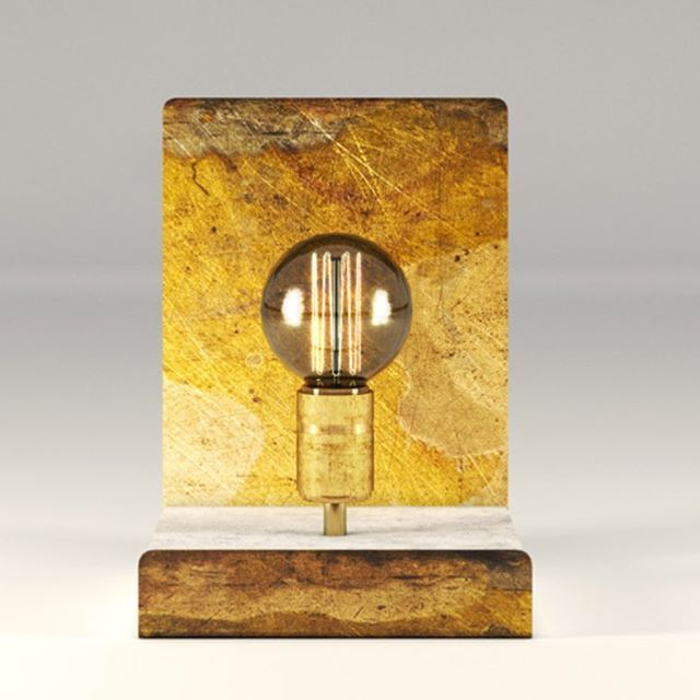 Lamp of concrete and rustic metal board. Different colors and shapes, from Kosmonaut.pl