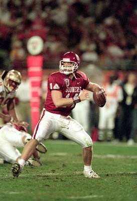 "OU ""Sooner Magic"" quarterback, Josh Heupel...All-American...Leader on 2000 National Championship Sooner Team...Coach (co-offensive coordinator) for Oklahoma Sooner Football Team..."